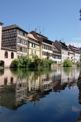 row of candid alsace houses