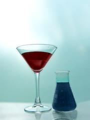 wineglass with retorta