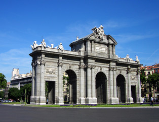 Puerta de Alcala on the Independence Square, Madrid, Spain