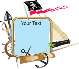 decorative Pirate frame with a place for text