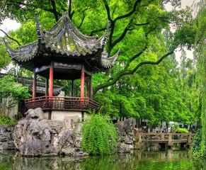 "Famous landmark ""Yu Yuan Gardens"" in Shanghai"