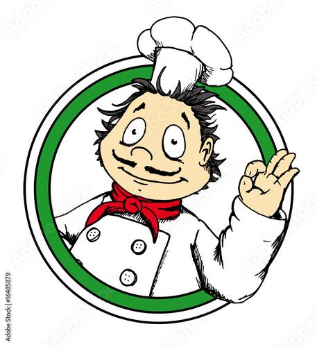 Pizza logo pizzamann italienisch koch stockfotos und for Koch italienisch