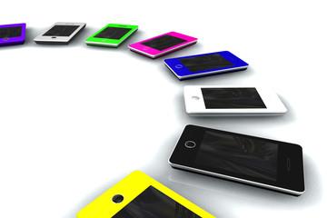 Collection téléphones portable couleur