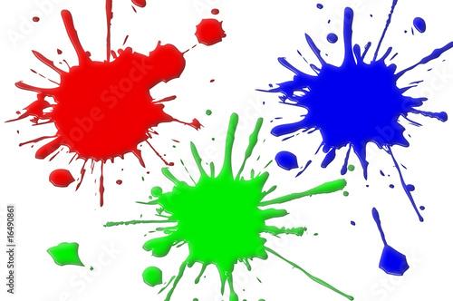 Taches Peintures Rvb Photo Libre De Droits Sur La Banque D Images