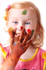 child in paint