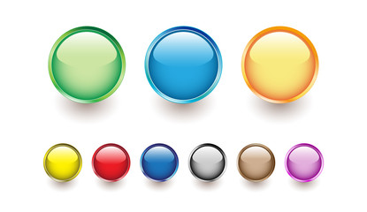 glossy buttons for web