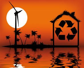 paillotte à énergie renouvelable