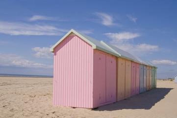 Les cabines de plage à Berck-sur-mer (Côte d'Opale)