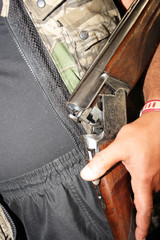 Hunter charges rifle ammunition
