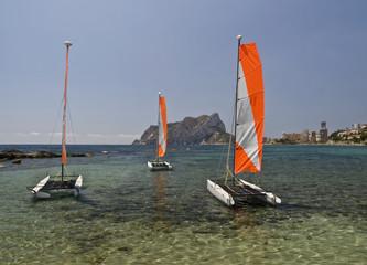 Catamaranes en Calpe