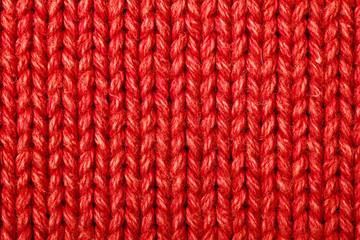 Red woolen texture