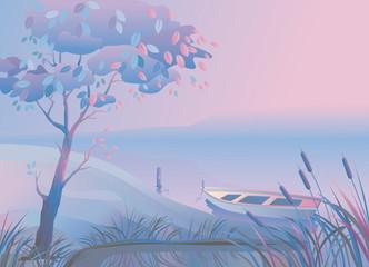 Landscape_Boat_Bulrush