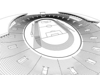 Foto op Plexiglas Stadion soccer