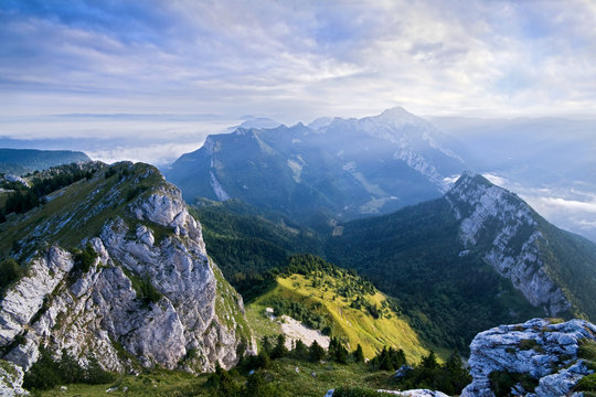 The mountain of Chartreuse in French alps