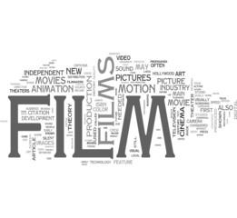 Film tags cloud