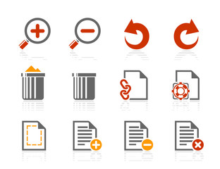 File manipulations icons | Sunshine Hotel series