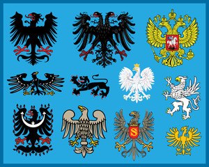 Heraldic elements - eagles