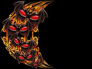 Halloween Maschera-Halloween Fire Mask-Masque Halloween