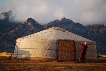 Nomades au coeur de le steppe, Mongolie