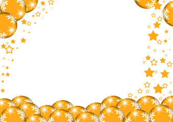 cartolina natalizia arancione