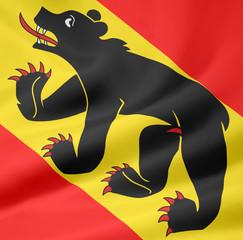 Flagge des Kantons Bern - Schweiz