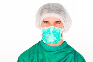 Portrait of a surgeon in scrubs uniform