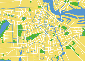 vector map of amsterdam.