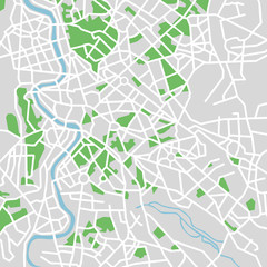 vector map of rome.
