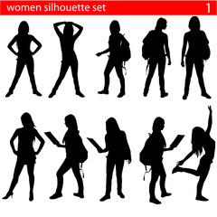 women silhouette set 1