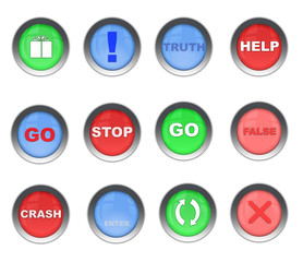 A Colorful Set of  Web Buttons