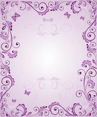 Purple greeting frame