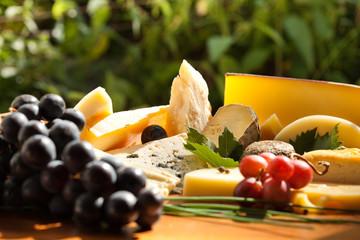 Assortiment et plaeau de fromage