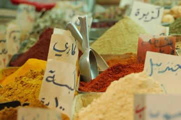 Damascus souk, Spice market in Syria