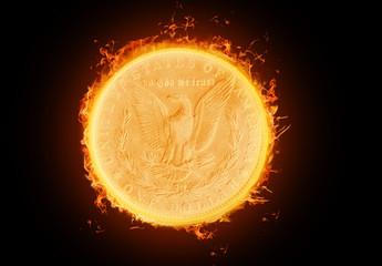 dollar im feuer