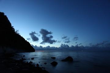 Strand von Rügen während der blauen Stunde