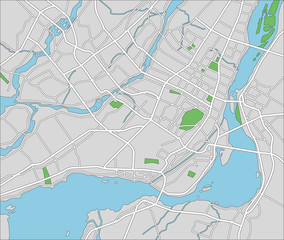 Vector map of Montreal.