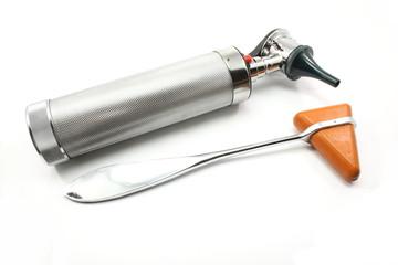 Reflex hammer and Otoscope
