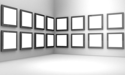 Photo gallery exhibition hall concept