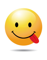 Funny Smiley on white