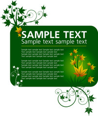 design template with yellow maple leafs