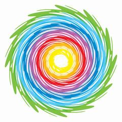 Printed kitchen splashbacks Spiral spirale arcobaleno