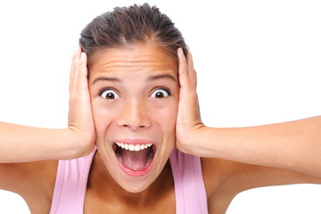 Leinwandbilder - Screaming woman