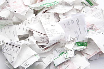 Pile of Credit Card Receipts