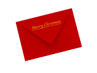letter with marry christmas