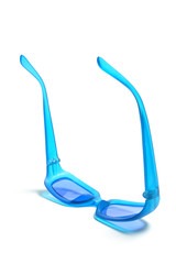 Blue Plastic Sunglasses