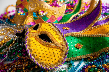 Mardi Gras mask background