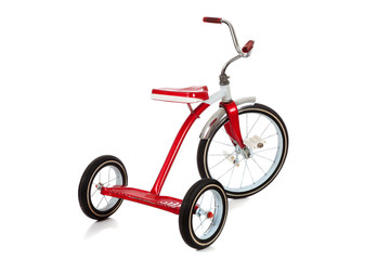 A red Tricycle on White