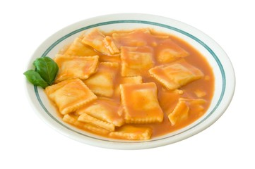 Ravioli-Teller