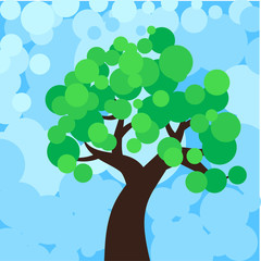 a stylized illustration of a tree