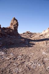 Moon Valley in Atacama desert near San Pedro de Atacama.